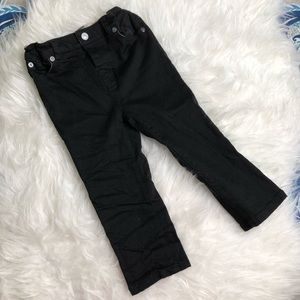 Burberry Boys 2T Black Pants Cotton Blend